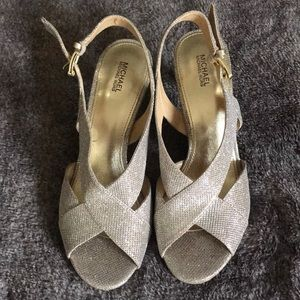 Brandnew Michael Kors glitter sandals